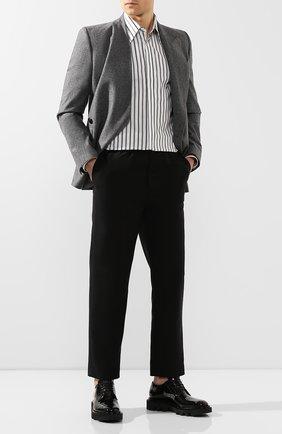Мужской кожаные дерби GIVENCHY черного цвета, арт. BH101XH0LF | Фото 2