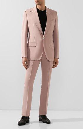 Мужские кожаные оксфорды GIVENCHY черного цвета, арт. BH1021H0LB | Фото 2 (Материал внутренний: Натуральная кожа; Стили: Классический)