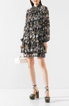Женское мини-платье POUSTOVIT черного цвета, арт. ss20P-1205-30 | Фото 2