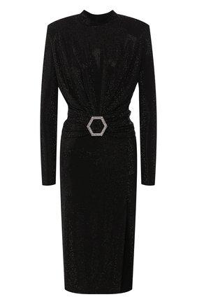 Женское платье PHILIPP PLEIN черного цвета, арт. S20C WRG1430 PTE003N | Фото 1