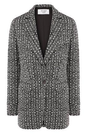 Женский жакет SEVEN LAB черно-белого цвета, арт. JTW20-C2STARS blk/wh | Фото 1