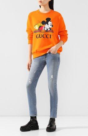 Хлопковый свитшот Disney x Gucci | Фото №2