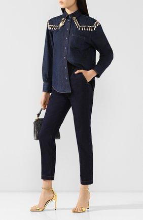 Женские джинсы DOLCE & GABBANA темно-синего цвета, арт. FTBPID/G900B | Фото 2