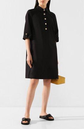 Женское хлопковое платье ESCADA черного цвета, арт. 5033013 | Фото 2
