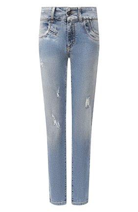 Женские джинсы GIVENCHY голубого цвета, арт. BW50FY50DK | Фото 1