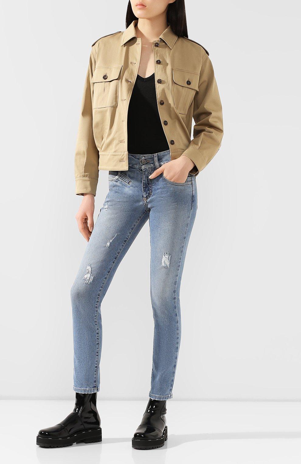 Женские джинсы GIVENCHY голубого цвета, арт. BW50FY50DK | Фото 2