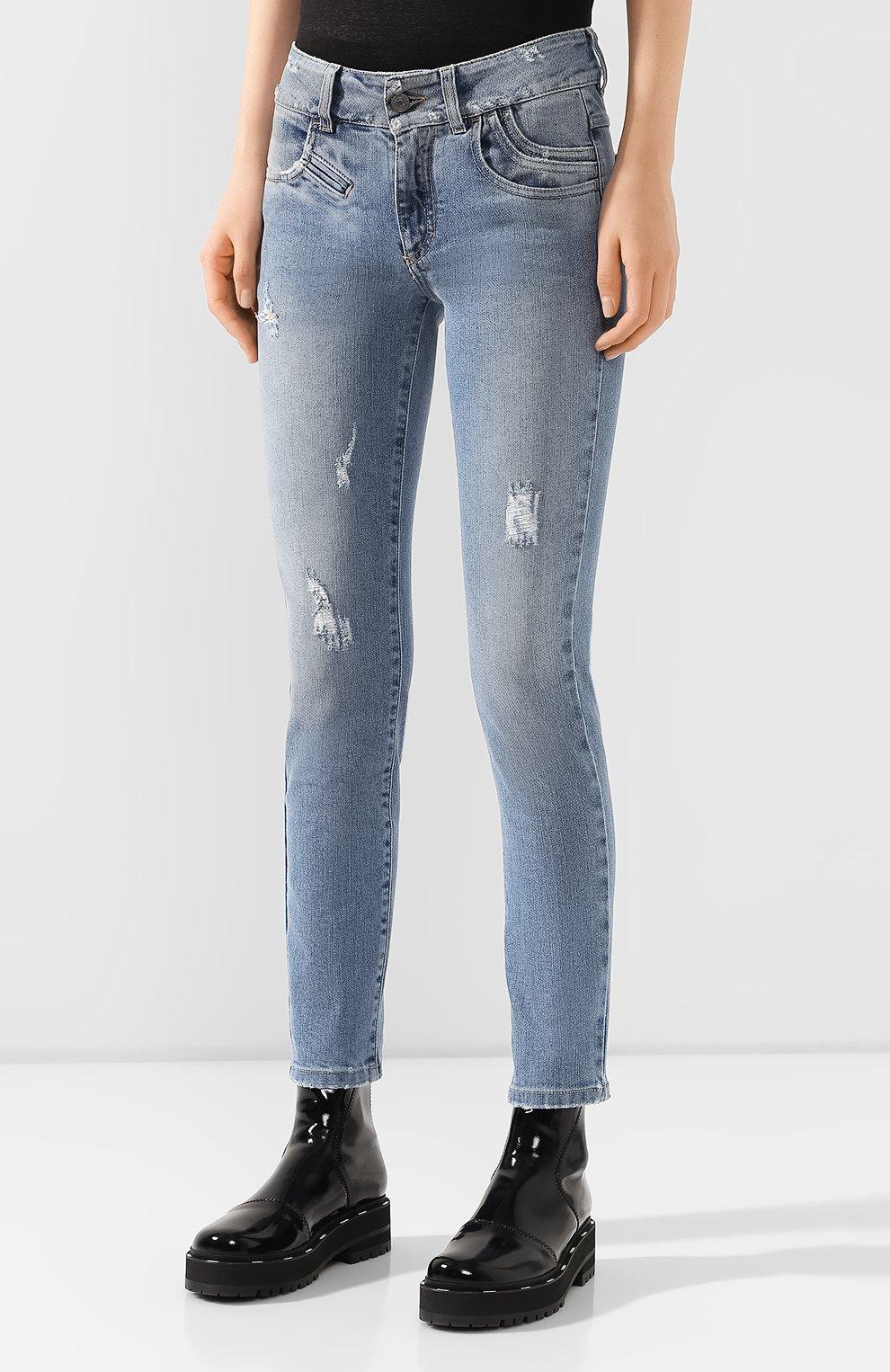 Женские джинсы GIVENCHY голубого цвета, арт. BW50FY50DK | Фото 3