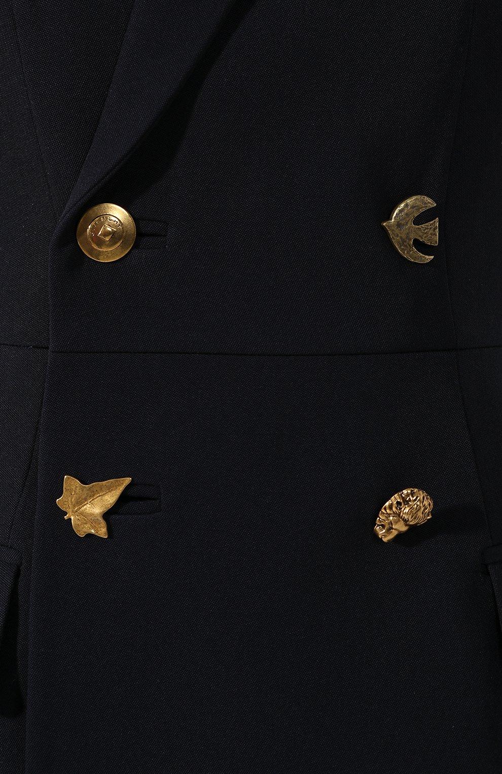 Женский шерстяной жилет GIVENCHY темно-синего цвета, арт. BW30BB11BN | Фото 5