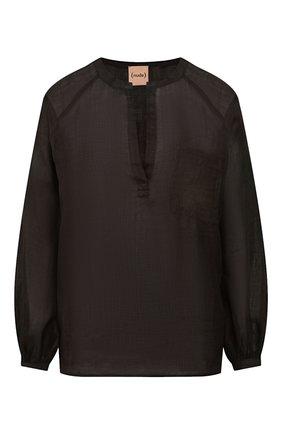 Женская льняная блузка NUDE черного цвета, арт. 1103750A/SHIRT | Фото 1