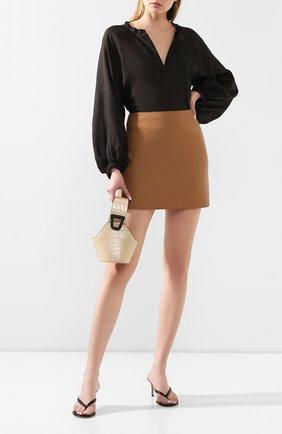 Женская льняная блузка NUDE черного цвета, арт. 1103750A/SHIRT | Фото 2