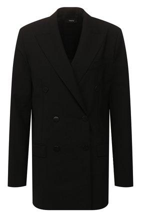 Женский шерстяной жакет THEORY черного цвета, арт. J0101116 | Фото 1