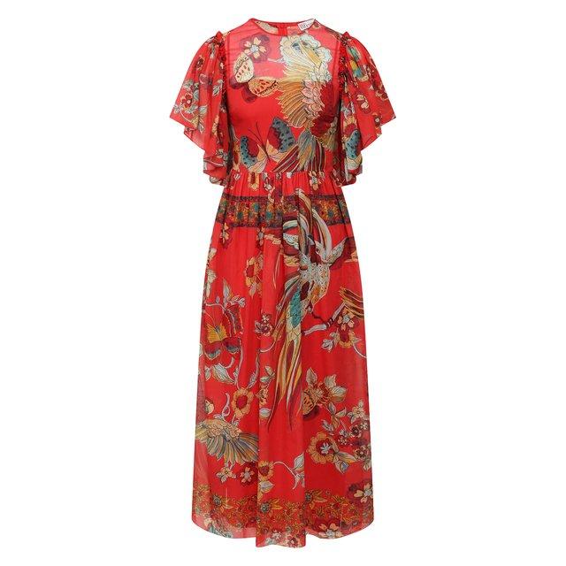 Платье из смеси хлопка и шелка REDVALENTINO
