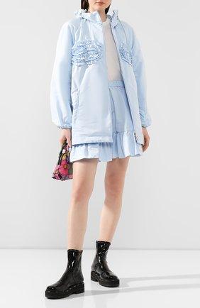 Женская куртка 4 moncler simone rocha MONCLER GENIUS голубого цвета, арт. F1-09W-1A700-00-C0505 | Фото 2