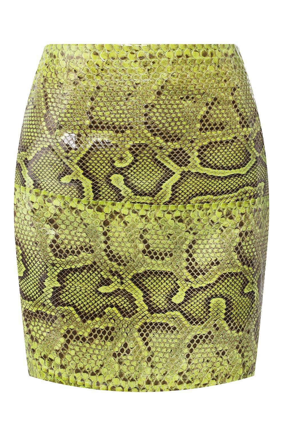 Женская юбка из кожи питона DOLCE & GABBANA зеленого цвета, арт. F4BWCL/HULI2/PBIV | Фото 1