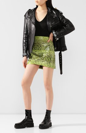 Женская юбка из кожи питона DOLCE & GABBANA зеленого цвета, арт. F4BWCL/HULI2/PBIV | Фото 2