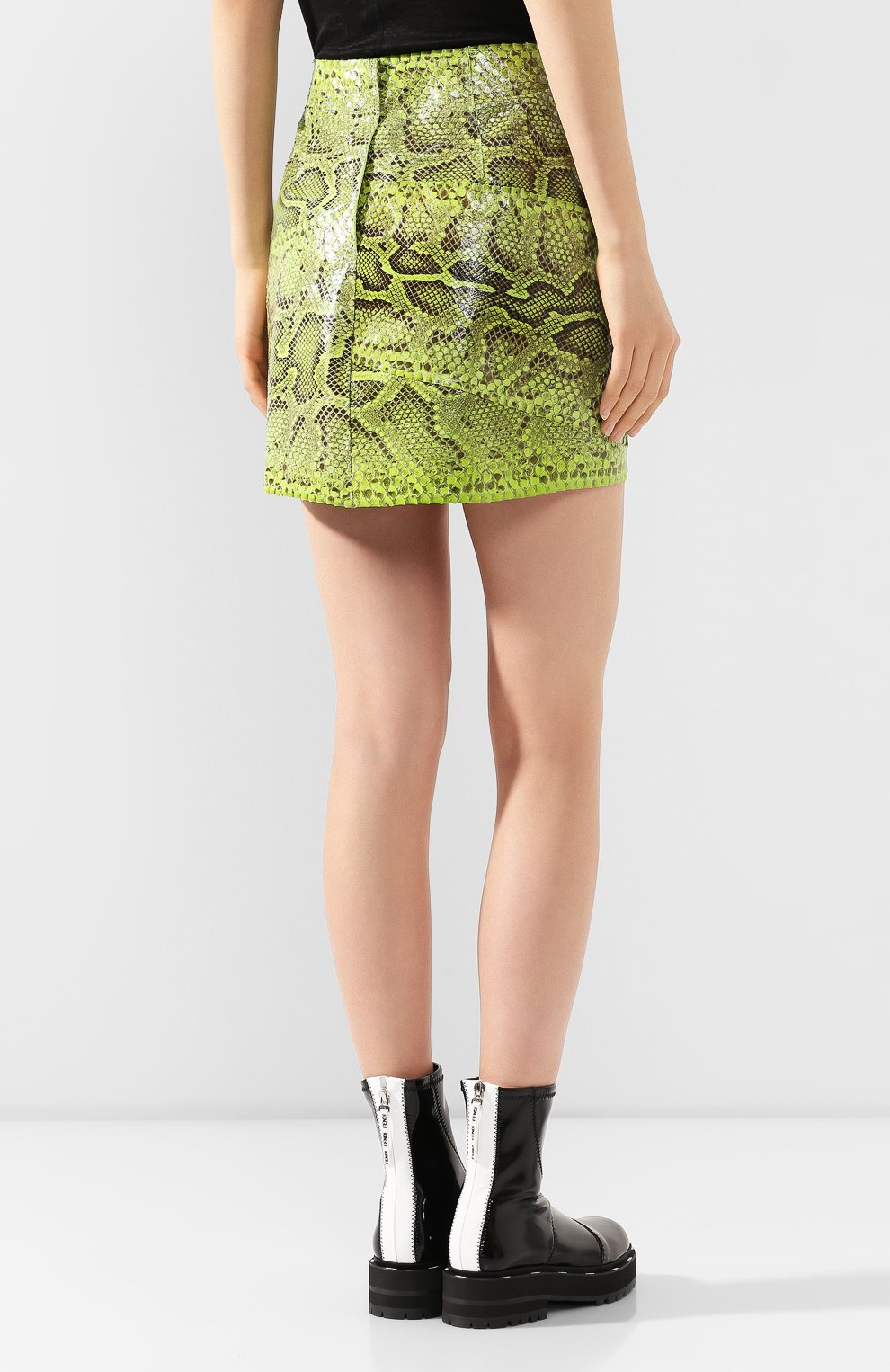 Женская юбка из кожи питона DOLCE & GABBANA зеленого цвета, арт. F4BWCL/HULI2/PBIV | Фото 4