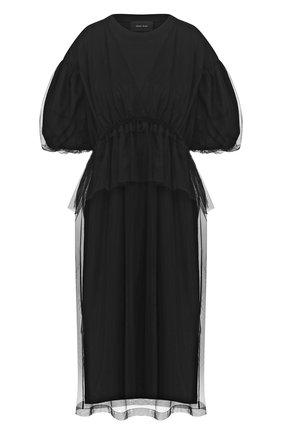 Женское платье SIMONE ROCHA черного цвета, арт. TS260/0553 | Фото 1