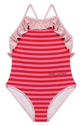 Детского слитный купальник MARC JACOBS (THE) разноцветного цвета, арт. W10149   Фото 1 (Материал внешний: Синтетический материал; Девочки Кросс-КТ: Купальники-пляж; Ростовка одежда: 9 лет   134 см, 3 года   98 см, 4 года   104 см, 5 лет   110 см, 6 лет   116 см)