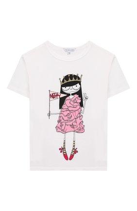 Детская хлопковая футболка MARC JACOBS (THE) белого цвета, арт. W15484 | Фото 1