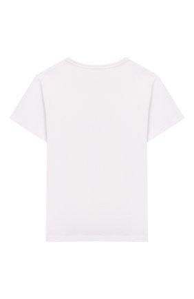 Детская хлопковая футболка MARC JACOBS (THE) белого цвета, арт. W15484 | Фото 2