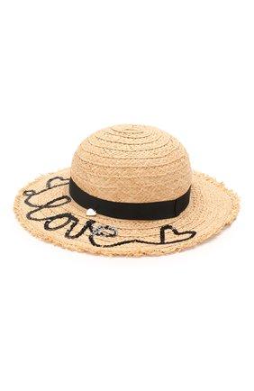 Детская шляпа IL TRENINO бежевого цвета, арт. 20 7281/E0 | Фото 1