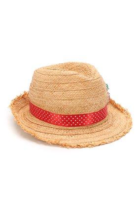 Детская шляпа IL TRENINO бежевого цвета, арт. 20 7283/E0 | Фото 1