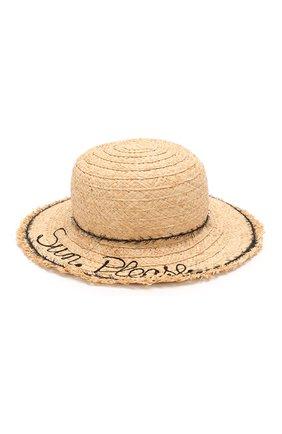 Детская шляпа IL TRENINO бежевого цвета, арт. 20 7285/E0 | Фото 1