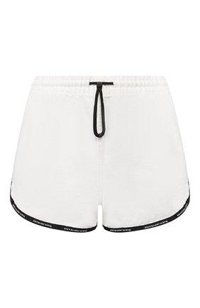 Женские хлопковые шорты DENIM X ALEXANDER WANG белого цвета, арт. 4D994392CE | Фото 1