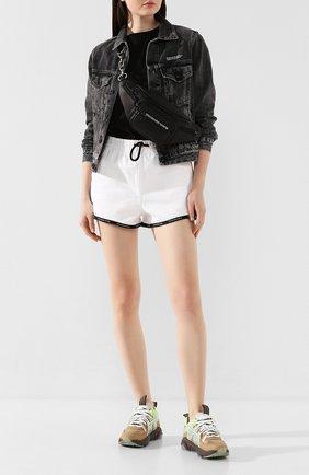 Женские хлопковые шорты DENIM X ALEXANDER WANG белого цвета, арт. 4D994392CE | Фото 2