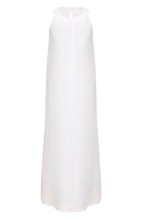 Женское льняное платье 120% LINO белого цвета, арт. R0W4501/B317/000 | Фото 1