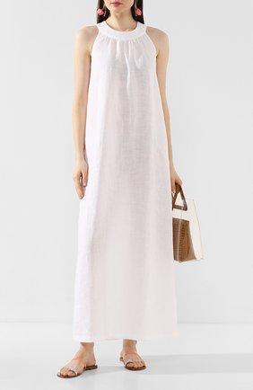 Женское льняное платье 120% LINO белого цвета, арт. R0W4501/B317/000 | Фото 2