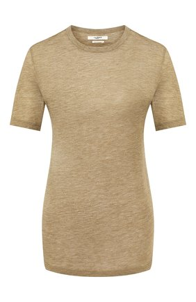 Женская футболка из смеси вискозы и кашемира ISABEL MARANT ETOILE хаки цвета, арт. TS0300-20P062E/DENA   Фото 1