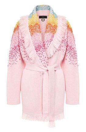 Женский кардиган из смеси шерсти и кашемира ALANUI розового цвета, арт. LWHB001R20003007 | Фото 1