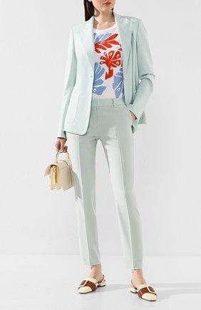 Женские шерстяные брюки WINDSOR бирюзового цвета, арт. 52 DHE707T 10009012 | Фото 2