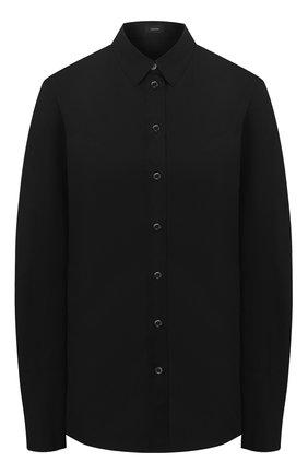Женская хлопковая рубашка JOSEPH черного цвета, арт. JF004056 | Фото 1