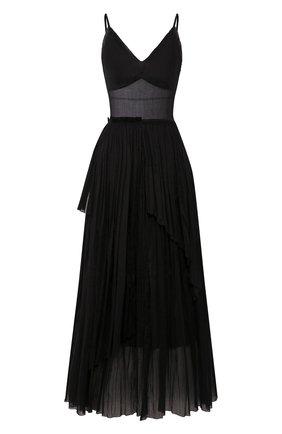 Женское хлопковое платье VIKA GAZINSKAYA черного цвета, арт. SS20-1377 | Фото 1