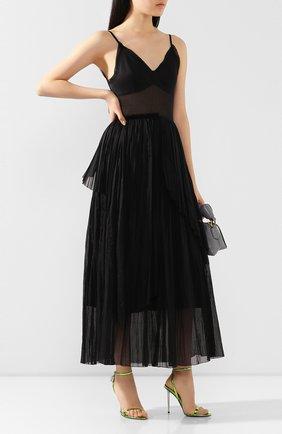 Женское хлопковое платье VIKA GAZINSKAYA черного цвета, арт. SS20-1377 | Фото 2