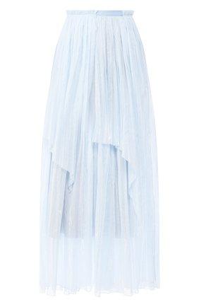 Женская хлопковая юбка VIKA GAZINSKAYA голубого цвета, арт. SS20-1828 | Фото 1