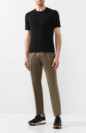 Мужская хлопковая футболка CRUCIANI черного цвета, арт. CUJ0SB.G30 | Фото 2