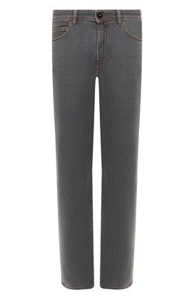 Мужские джинсы LUCIANO BARBERA светло-серого цвета, арт. 114813/26838 | Фото 1