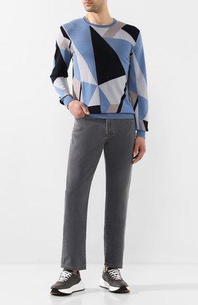 Мужские джинсы LUCIANO BARBERA светло-серого цвета, арт. 114813/26838 | Фото 2