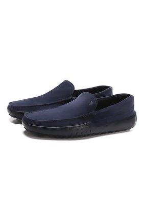 Мужские замшевые мокасины TOD'S темно-синего цвета, арт. XXM24C0S570RE0 | Фото 1