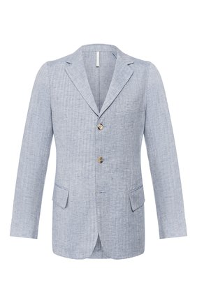 Мужской льняной пиджак 120% LINO голубого цвета, арт. R0M8469/F771/700 | Фото 1