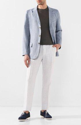 Мужской льняной пиджак 120% LINO голубого цвета, арт. R0M8469/F771/700 | Фото 2