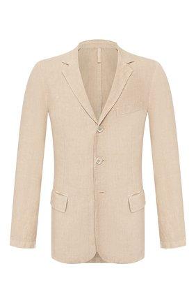 Мужской льняной пиджак 120% LINO бежевого цвета, арт. R0M8469/0253/000 | Фото 1