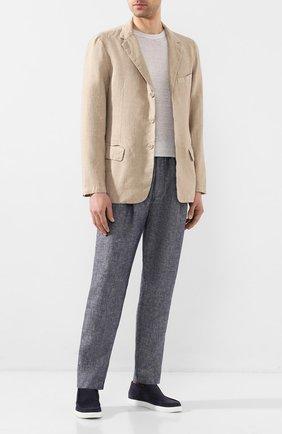Мужской льняной пиджак 120% LINO бежевого цвета, арт. R0M8469/0253/000 | Фото 2