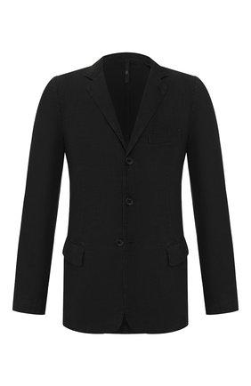 Мужской льняной пиджак 120% LINO черного цвета, арт. R0M8469/0253/000 | Фото 1