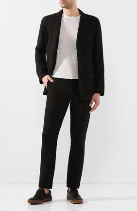 Мужской льняной пиджак 120% LINO черного цвета, арт. R0M8469/0253/000 | Фото 2
