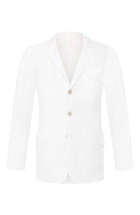 Мужской льняной пиджак 120% LINO белого цвета, арт. R0M8469/0253/000 | Фото 1