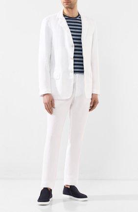 Мужской льняной пиджак 120% LINO белого цвета, арт. R0M8469/0253/000 | Фото 2